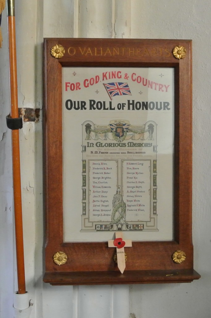 Saxlingham Nethergate Roll of Honour