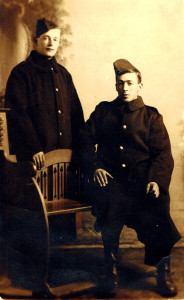 Alfred Funnell & Arthur Emms (seated)