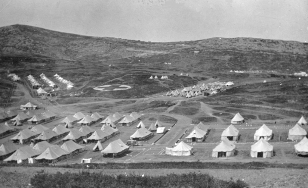 """60th General Hospital, """"Hortiach"""", Salonika 1918, Courtesy of State Library of Western Australia. BA1286/365, 009465D"""