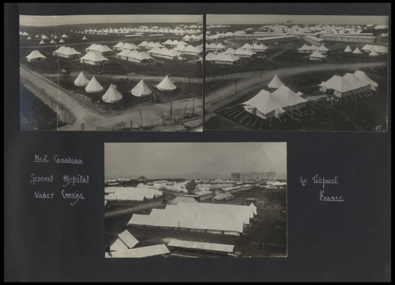 2nd Canadian Hospital at Le Treport. Photograph from 8th Canadian Field Ambulance Photograph Album