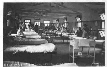 Ward at Sutton Veny Military Hospital