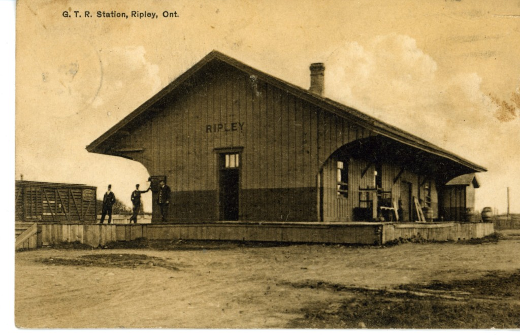Ripley Station. Photo courtesy of the Bruce County Museum and Culture Centre. A2011.103.010