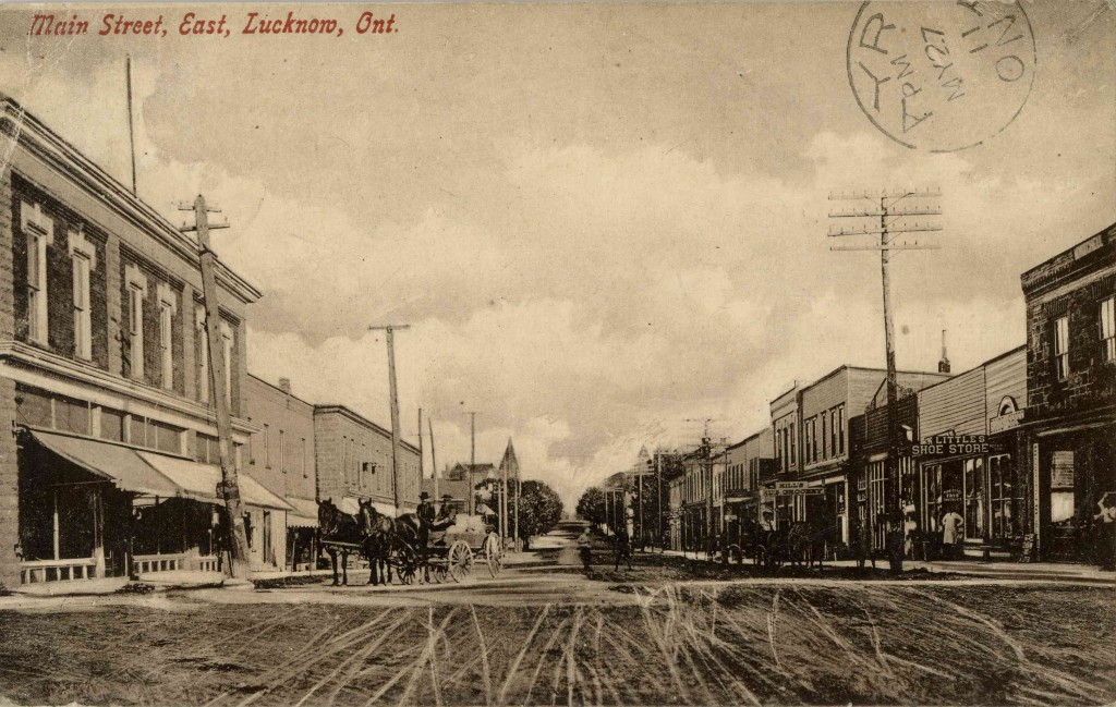 Main Street, Lucknow 1911. Photo courtesy of Bruce County Museum and Culture Centre. A2011.104.011