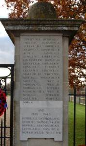 Part of Fordingbridge War Memorial.