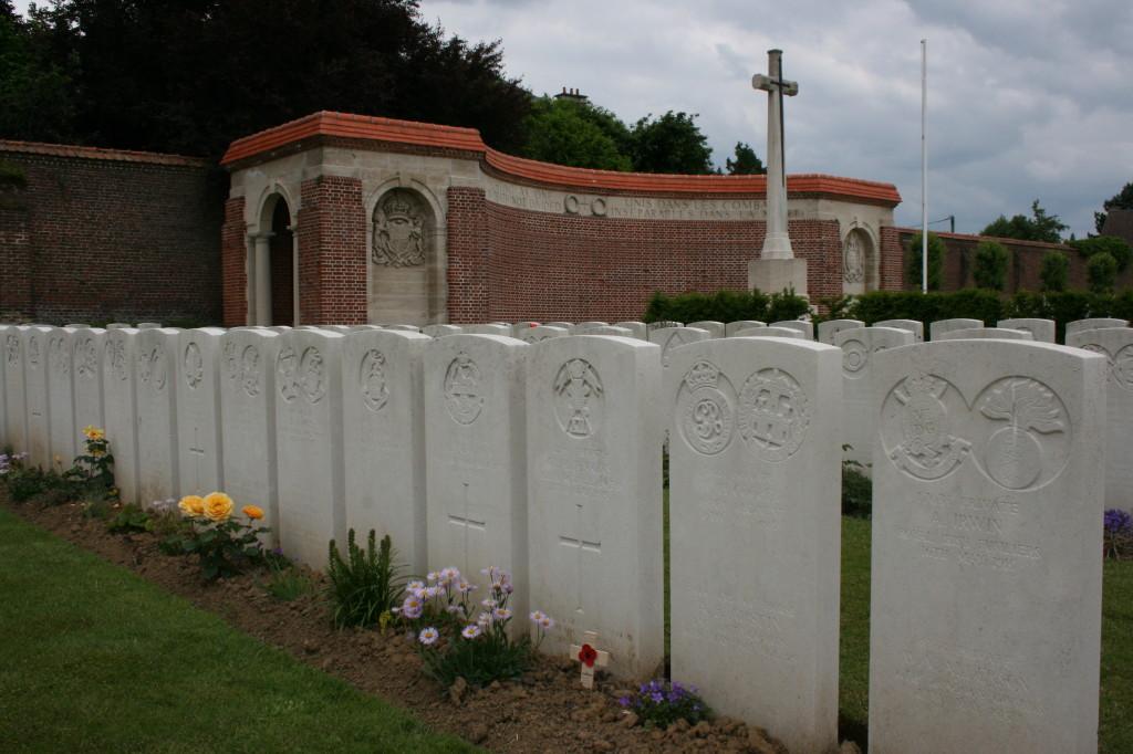 George Albert Jenkins' grave with poppy cross