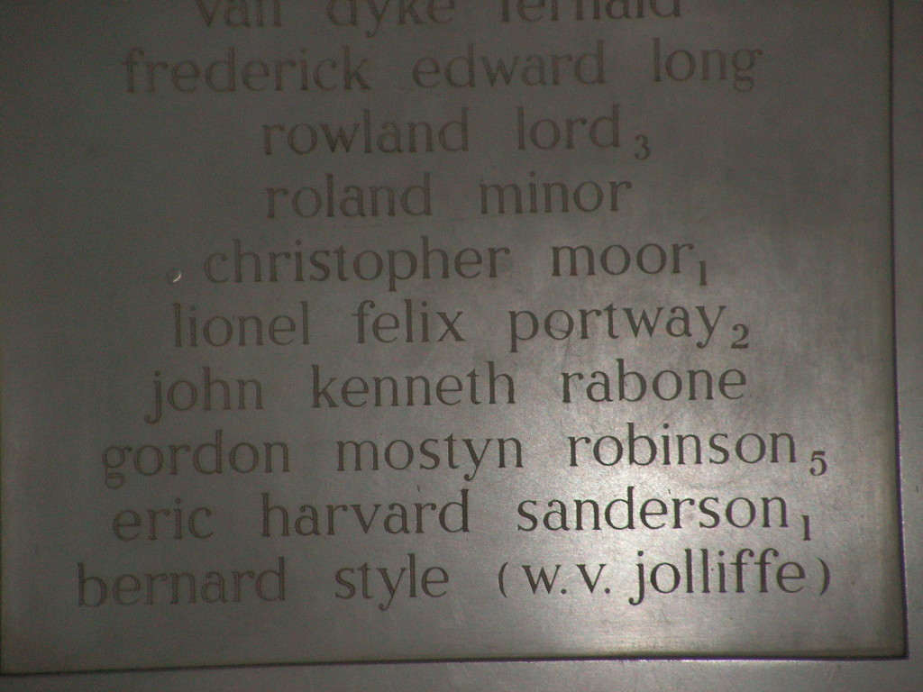 Inscription on memorial at Abbotsholme School