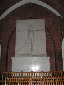 War memorial in Abbotsholme School Chapel called ' The Radiant Lover'