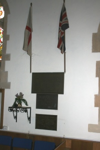 War Memorial in the Church of the Holy Ascension, Hyde. Photograph courtesy of Jeff Fox