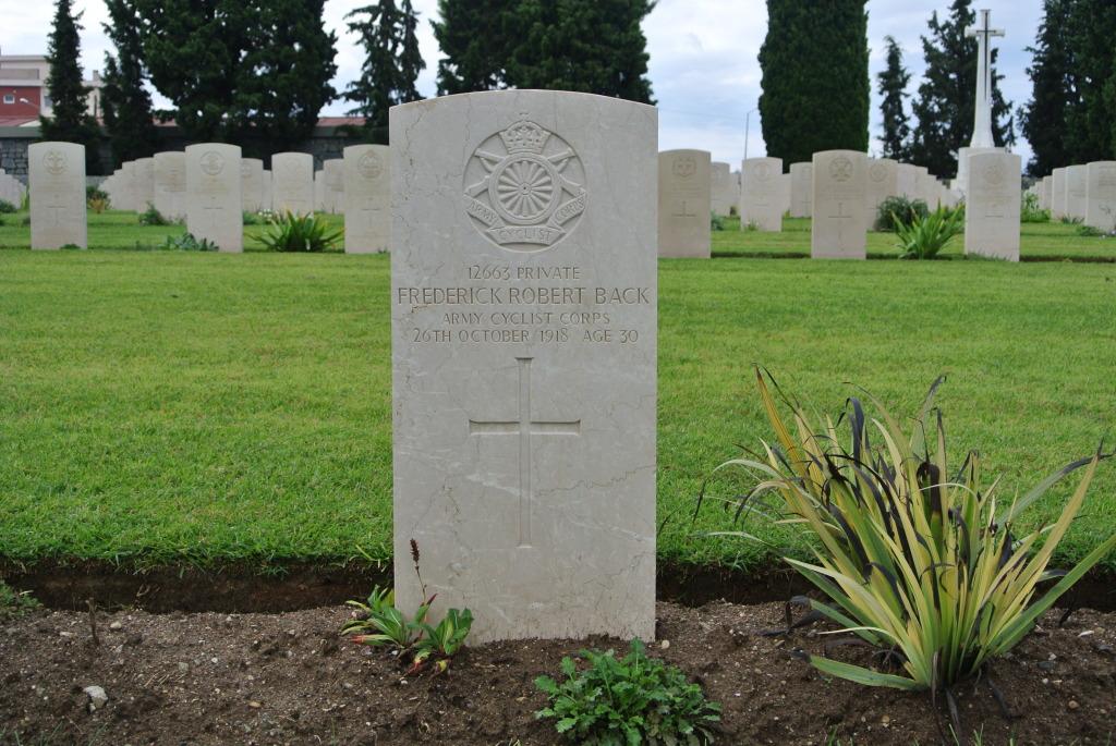 Grave of Frederick Robert Back
